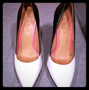 Two toned black and white LAMB pump